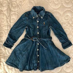 Ralph Lauren denim dress for girls 2T